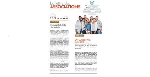 La lettre des Associations N°52 – décembre 2020 – janvier 2021